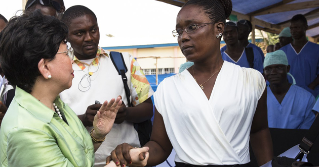 Cured of Ebola, Rebecca returns to cure others