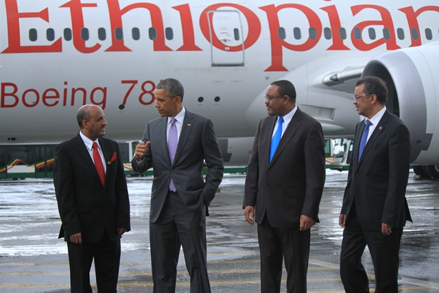President Obama commends Ethiopian Airlines as the largest in Africa
