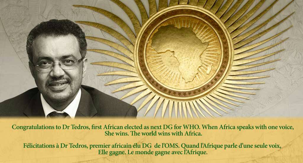 AU congratulates Dr Tedros on election as Africa's first WHO Director-General