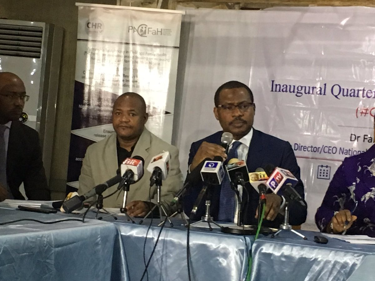 CHR, NPHCDA establish quarterly interactive forum, #OpenNPHCDA