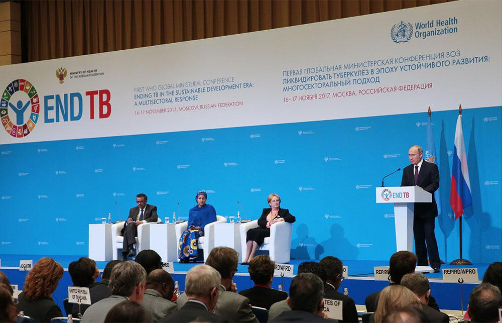 75 Ministers announce a landmark agreement to end Tuberculosis (TB) by 2030